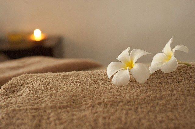 květiny a ručník
